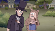 S7E09.360 Abraham Lincoln and Bear Kid Eating Rigby