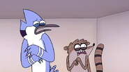 S7E10.142 Mordecai and Rigby's Reaction to Non-Party Horse