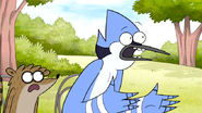 S6E16.013 Mordecai is Surprised that Benson Never Saw Full Metal Impact