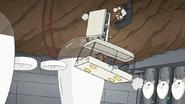 S8E01.088 Mordecai Crashing Into a Pod