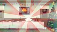 S6E10.165 Mistletoe Disco Ball Emitting Light