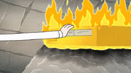 S8E20.180 Pops Sticking the Ice Tape into the Fire VCR
