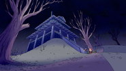 S6E04.001 Trick-or-Treaters Approaching the House
