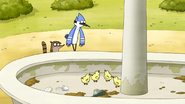 S2E23 Rigby And Mordecai See Baby Ducks