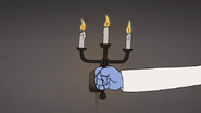 S8E19.188 Mordecai Grabbing Candles