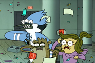 Mordecai, Rigby, and Eileen