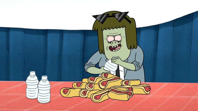 Regular Show Hot Dog Eating Contest
