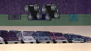S4E12.041 The Couple Trucks Jumping Over Some Cars