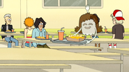 S6E02.083 Hi-Five Asking to Sit with Muscle Man