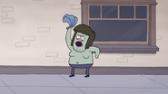 S4E12.034 Muscle Man Takes His Shirt Off