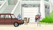 S7E09.061 Benson Proudly Watching Mordecai and Rigby Work