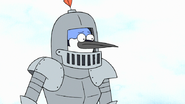 S7E26.144 Mordecai in a Suit of Armor