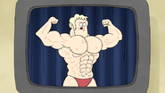S5E11.088 Bodybuilding Poses on Tape 03