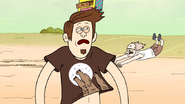 S6E22.239 A Guy Wearing a Wolves Howling at the Moon T-shirt