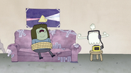 S4E12.118 Hi-Five Listening to Music While Watching Muscle Man