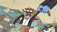 S6E28.083 Mordecai Pulling Rigby Out of Muscle Man's Junk