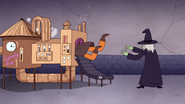 S7E09.342 Chocolate Witch Throwing Mordecai in the Candy Kid
