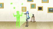 S7E26.131 Mordecai Playing with the Juggler Hologram