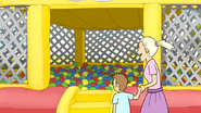S6E22.053 A Child and His Mother Approaching the Ball Pit