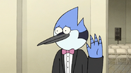S6E28.037 Mordecai Waving at CJ