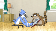 S5E18.19 Mordecai Reading Rigby's Parting Message