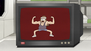 S8E12.001 A Guy Pumping His Muscles