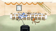 S5E12.032 Mordecai and Rigby Charging Towards Each Other