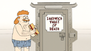 S6E26.105 Sensai Eating His DKD Sandwich of Health