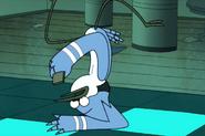 Upside down Mordecai