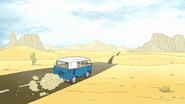 S7E36.104 Mordecai Driving in the Desert