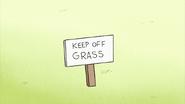 S2E11.060 Keep Off Grass Sign