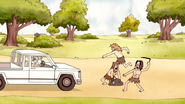 S4E17.167 Cavemen Attacking the Park Truck