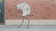 S8E03.157 Newspaper Flying into Benson's Face