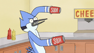 S7E09.048 Mordecai with Cup Cannons