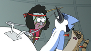 S7E05.376 Mordecai and Rigby Getting Knocked Out