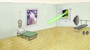 S8E16.027 Laser Heading Towards Skips' Bed