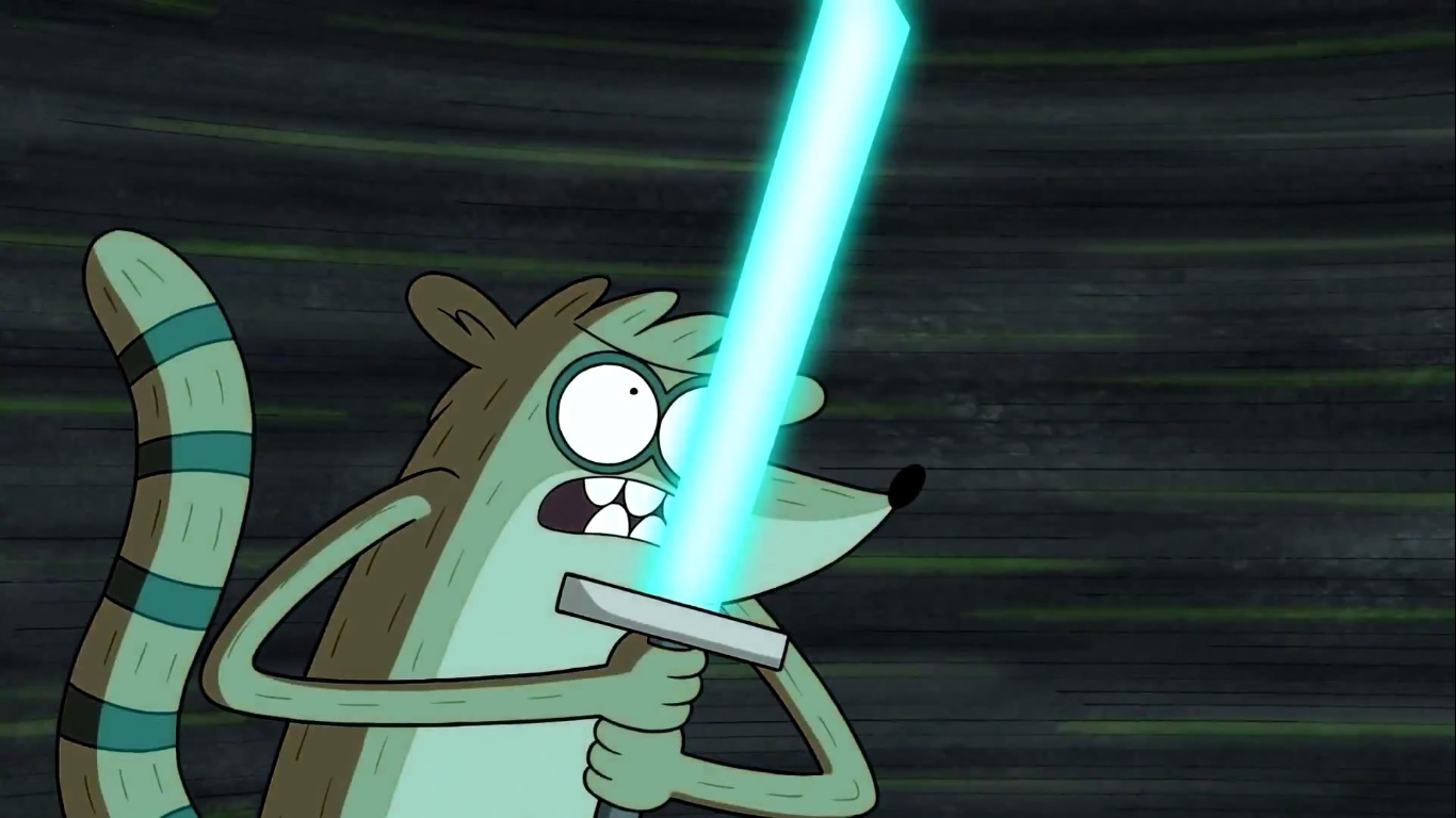 Rigby With A Lightsaber