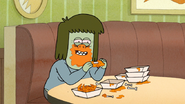 S7E08.059 Muscle Man Eating Chicken Wings