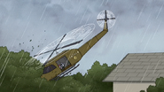 S6E20.219 The Chopper Hitting the Trees