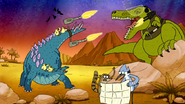 S6E24.574 Mordecai, Rigby, and Baby Ducks' Dinosaur Adventure