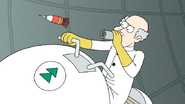 S7E05.374 A Scientist Firing a Knockout Dart at the Guys