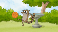 S5E10.059 Rigby Kicking the Basketball in Frustration