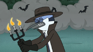 S8E19.222 Mordecai Trying to Fight with Candles