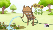 S5e8 johnny watering flowers