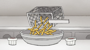 S8E09.214 Fries Poured into a Bowl