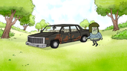 S4E12.072 Muscle Man Sneaking to His Car