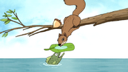 S5E29.004 A Fish Giving Water to the Squirrel