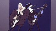 S7E02.089 Mordecai and Skips Rocking Out