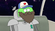 S8E05.027 I'm quite sure I'll go undetected with this beard and this baseball cap