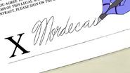 S4E30.119 Mordecai Writing His Signature